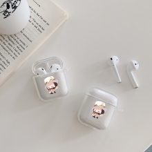 White gentleman Cases For Apple AirPods 2  Earphone PC Case Air Pods 1 Charging Box Hard Crystal Cover Airpods