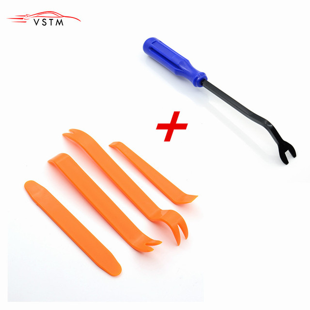 4pcs Remover Removal Puller Pry Tool Car Door Panel Trim Upholstery Retaining Clip Plier Tool Hand Tool Set