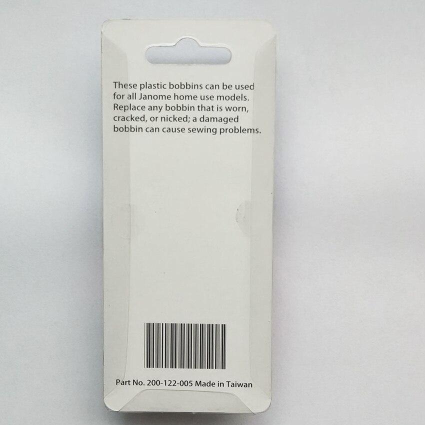 Plastique Bobines x10 en paquet pour tous les Janome usage domestique modèle 200122005