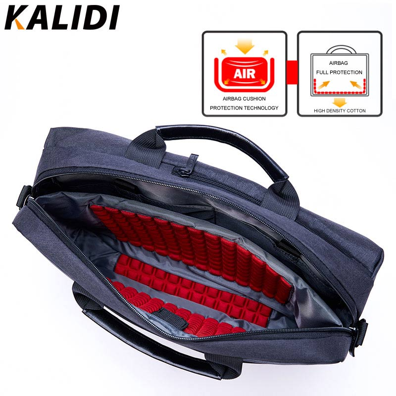 KALIDI 15 Inch Business Bags Handbag Men Briefcase Laptop Shoulder Messenger Bag For Mackbook 13.3-15.6 Inch Notebook Laptop Bag