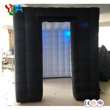Счастливый купить 2,25 м надувные Photo Booth Опора с светодиодный свет Внутренняя воздуходувки для Свадебная вечеринка продвижение рекламы Photo Booth