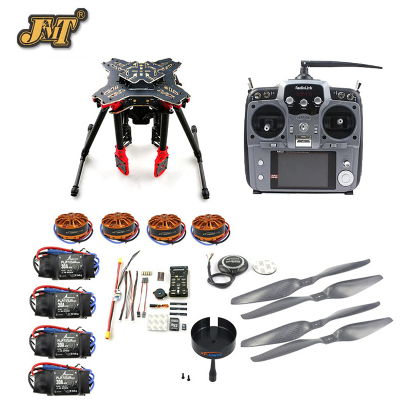 JMT DIY GPS Drone RC Quadcopter HMF U580 Totem Series PIX Flight Control 700KV Motor 30A ESC Radiolink AT10 TX&RX No Battery rtf full kit hmf y600 tricopter 3 axis copter hexacopter apm2 8 gps drone with motor esc at10 tx
