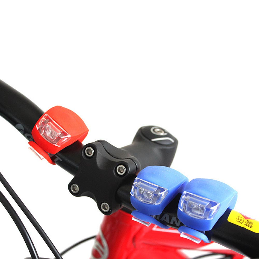 Back Light Bike Bicycle Cycling Head Front Rear LED Flash Light Lamp Bicycle Front Back Lamp Silicone LED Bicycle Back Light