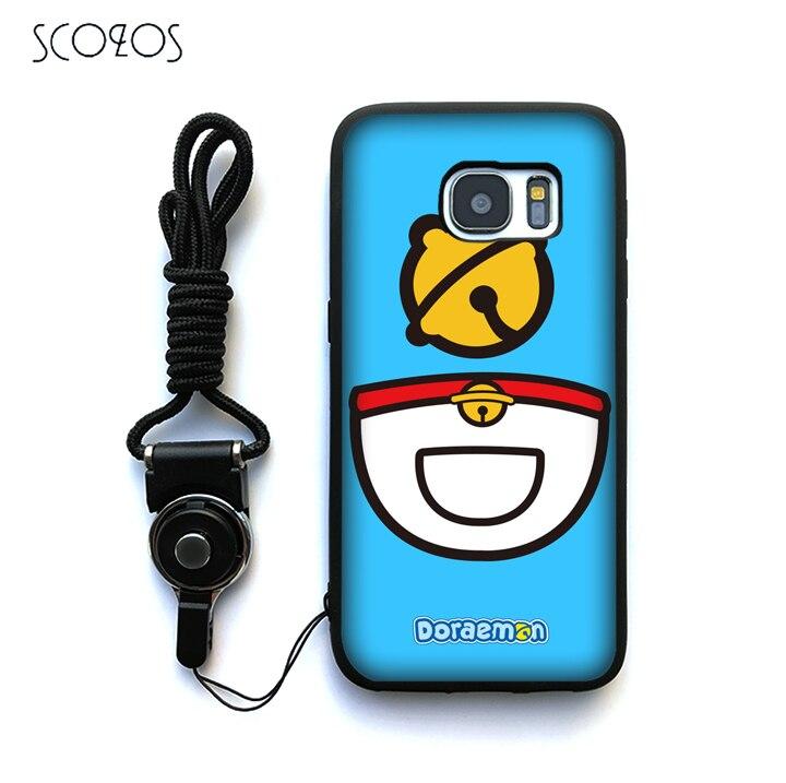 SCOZOS Japan Japanese cute kawaii Doraemon Case For Samsung Galaxy S6 S7 S7 edge S8 S8 Plus J3 J5 J7 A3 A5 A7 2016 Note 8 &ww174