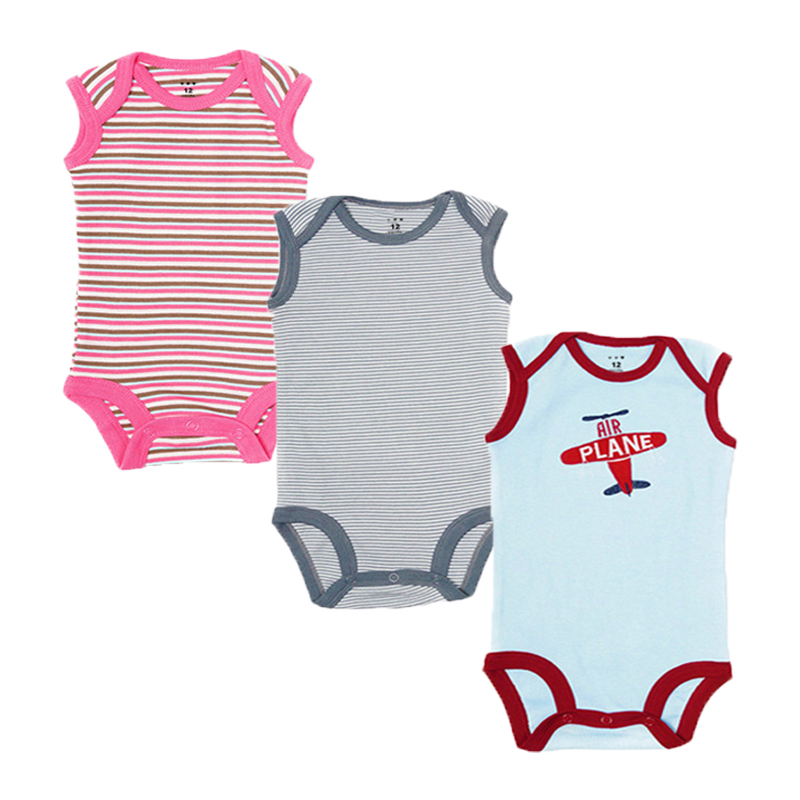 3pcs/lot Summer Baby Rompers Cotton Baby Girl Clothes 2018 Newborn Baby Boy Clothes Roupas Bebe Infant Jumpsuits for 0-12 Month 3pcs lot newborn baby rompers bebe boys girls jumpsuits cotton long sleeves infant pajamas babies clothing newborn baby clothes
