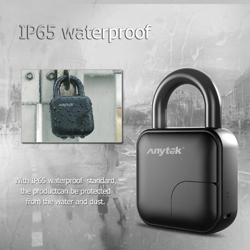 Anytek alarme voiture Anti-vol signalisation Alarma Auto L3 Smart sans clé empreinte digitale cadenas porte fixation rétractable et mécanisme d'attache de sécurité serrure de sécurité - 6