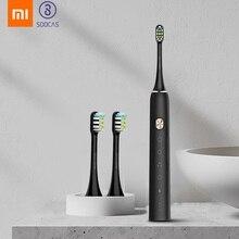 Xiaomi mijia toothbrush soocas x3 sonic escova de dentes elétrica adulto à prova dwaterproof água ultra sônico automático escova de dentes usb recarregável