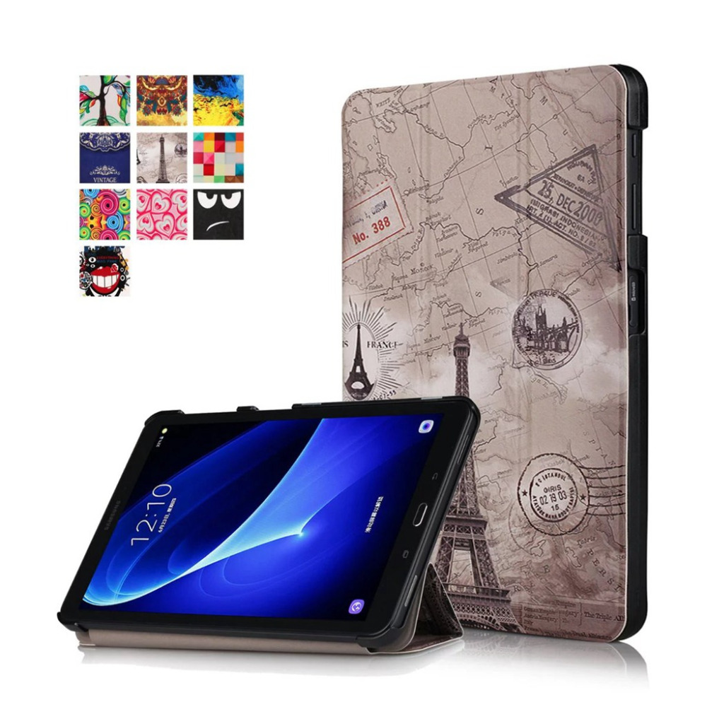 PU Leather cover For Samsung Galaxy Tab A A6 10.1 2016 T585 T580 SM-T580 T580N Ultra Slim Magnetic Smart Case