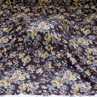 New fashion mixed color thick polyester printing embroidery lace fabric wedding dress/cheongsam lace fabric 140cm one yard
