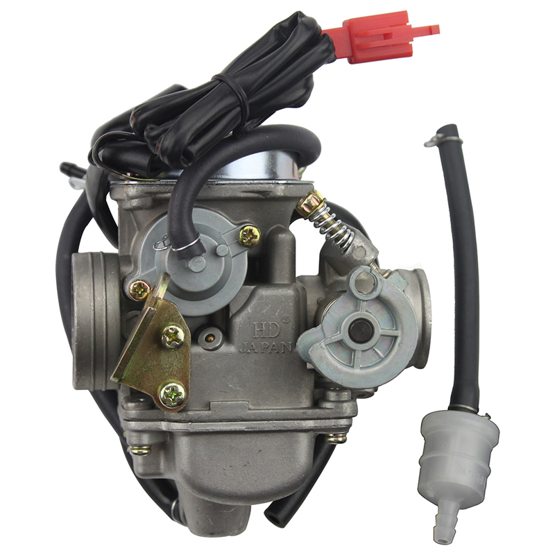 GOOFIT PD24J Carburetor 24mm Carb 42mm air filter motorcycle for Engine GY6 125 CC 150CC ATV Go Kart Moped and Scooter N090 058