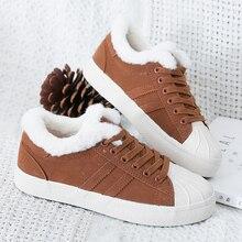 Купить с кэшбэком 2018 new velvet warm cotton shoes women's winter flat-bottomed canvas shoes casual low-top flat shoes women  Yasilaiya