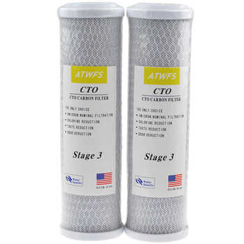 ATWFS  2pcs 10 Inch Block Carbon Filter Water Purification Universal Water Filter Activated Carbon Cartridge Reverse Osmosis - DISCOUNT ITEM  40% OFF All Category