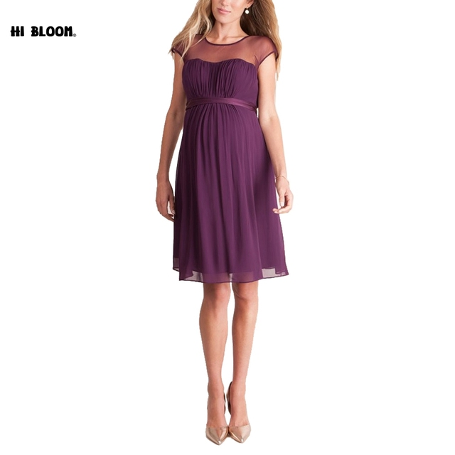 Fashion Evening Party Maternity Dresses Wine Red Lace Dress For Pregnant  Women Maternity Clothes Pregnancy Dresses 801cbb597cb9