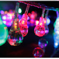 Tipo gota led luces de colores mantianxing intermitente linterna cordón de iluminación de alambre de cobre cadena de luz al aire libre