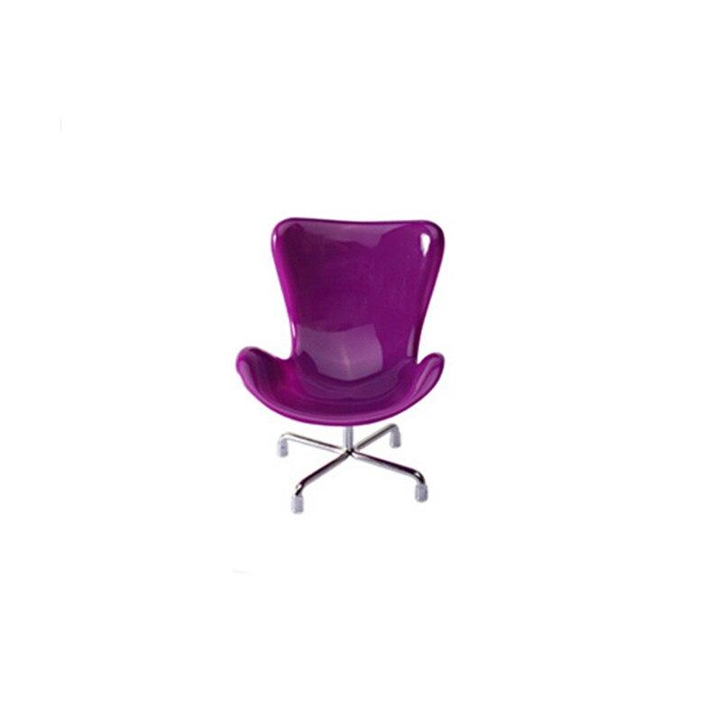 6pcs / lot plastične modne lutke stolice, 6 boja mješoviti 1/6 Doll - Lutke i pribor - Foto 4