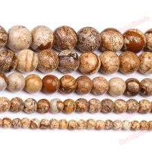 Spedizione gratuita çin'de pietra naturale resim jaspers rotonda boncuk 4 6 8 10 12 mm scegli la tua taglia başına mobili che fanno