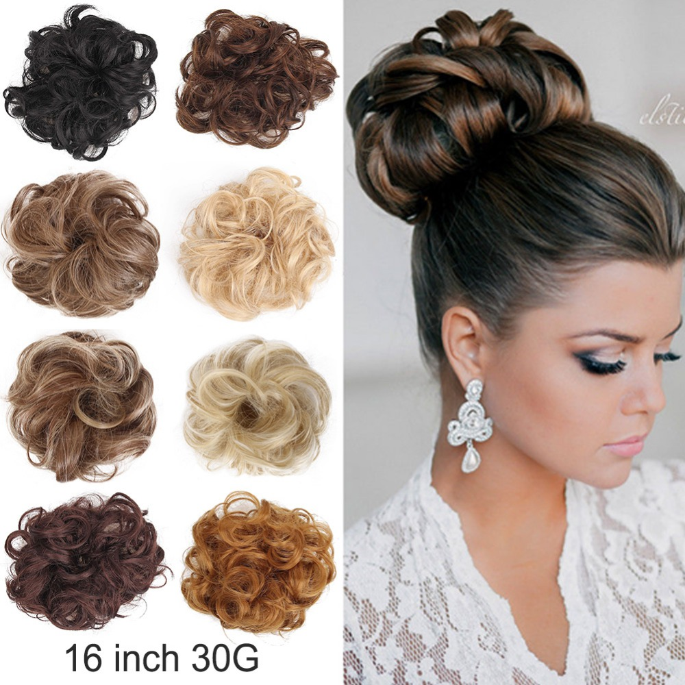 1 Piece Heat Resistant Synthetic Hair Elastic Chignon Hairpiece