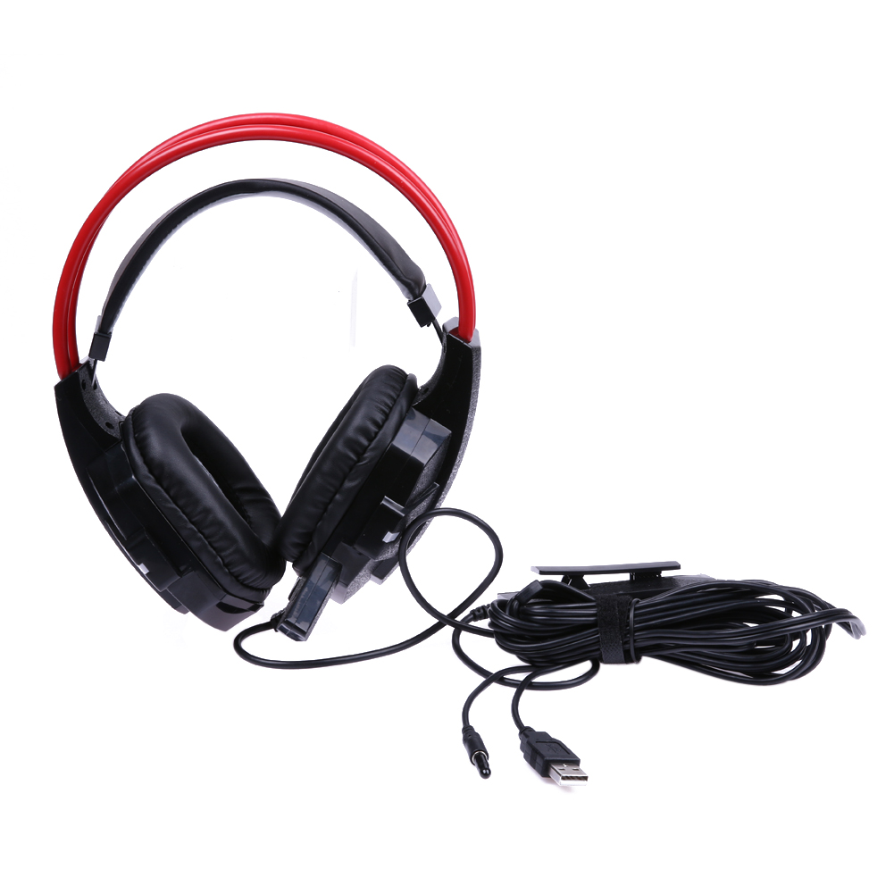 Wired Game Surround Sound Headphones with Noise-canseling microphone gaming headset For PS4 Slim Pro ps3 XboxONE S PC image