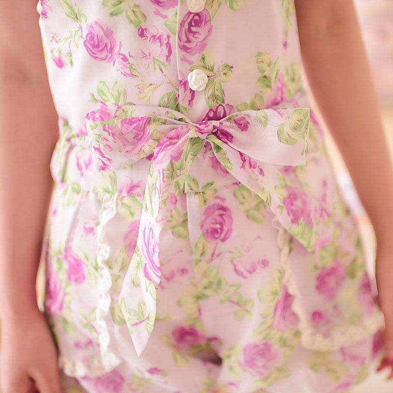 Милые шорты принцессы в стиле Лолиты; Яркие летние шорты в японском стиле с цветочным принтом и бантом; шорты-фонарики на высокой талии; C15AB5711 - Цвет: shorts