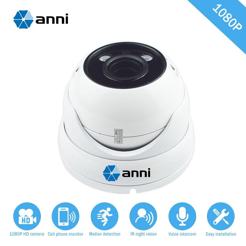 Metallic Vandal-proof 1080HD Wide Angle 2.8MM Lens IR Dome Camera Waterproof 30M IR-CUT surveillance system Onvif POE Web Camera
