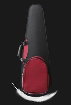 Peso ligero portátil violín caso resistente a la presión triangular violín caso 1/4, 1/2, 3/4, 4/4 de hombro Doble