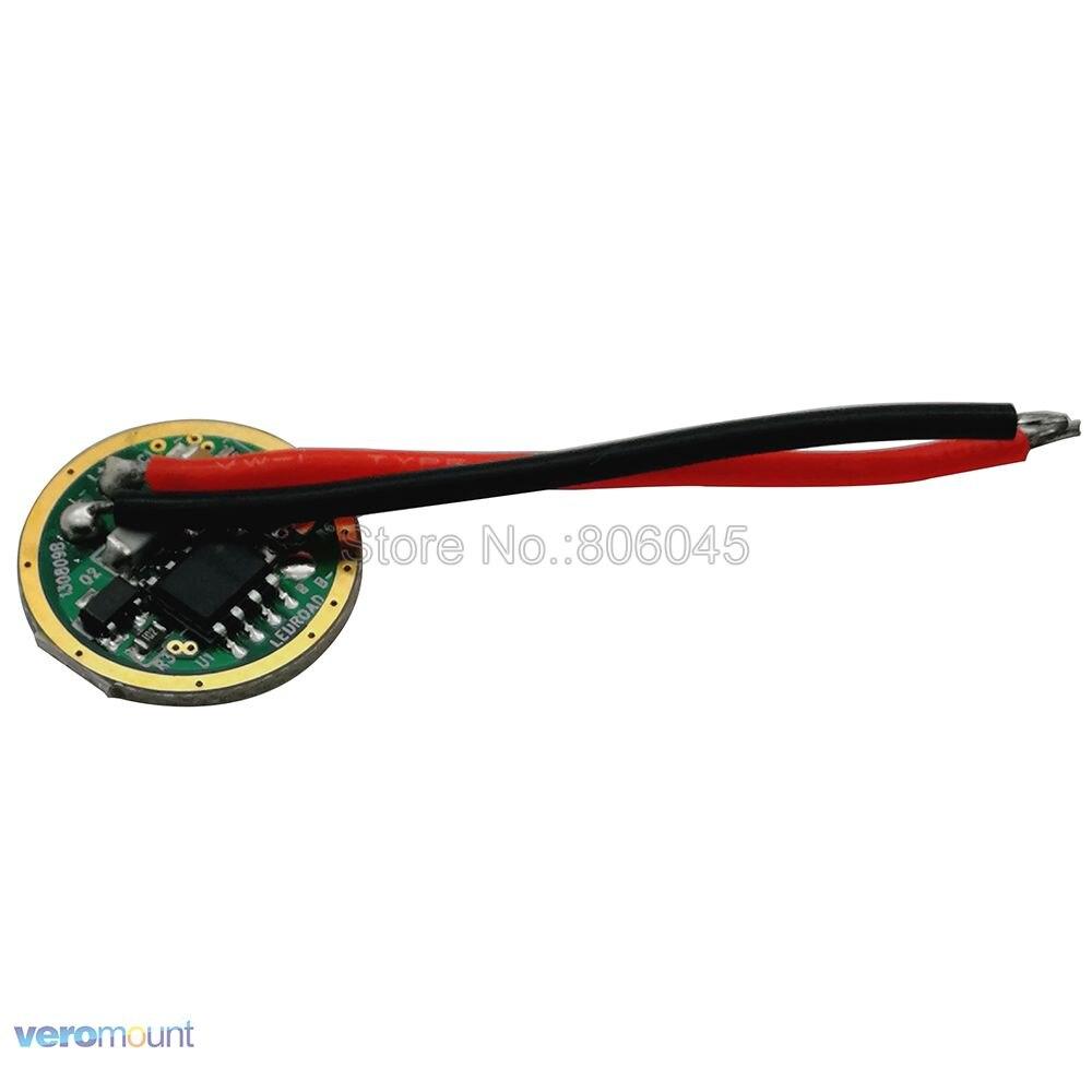 5 modos 16mm 3,7 V entrada LED salida del controlador DC3.7V 2A para Cree 10W XM-L XML T6 L2 U2 luz LED antorcha flash Luz Controlador cree XHP70 6v 5 modo dia26mm input7-18v output6V 4A controlador de linterna Led de corriente constante