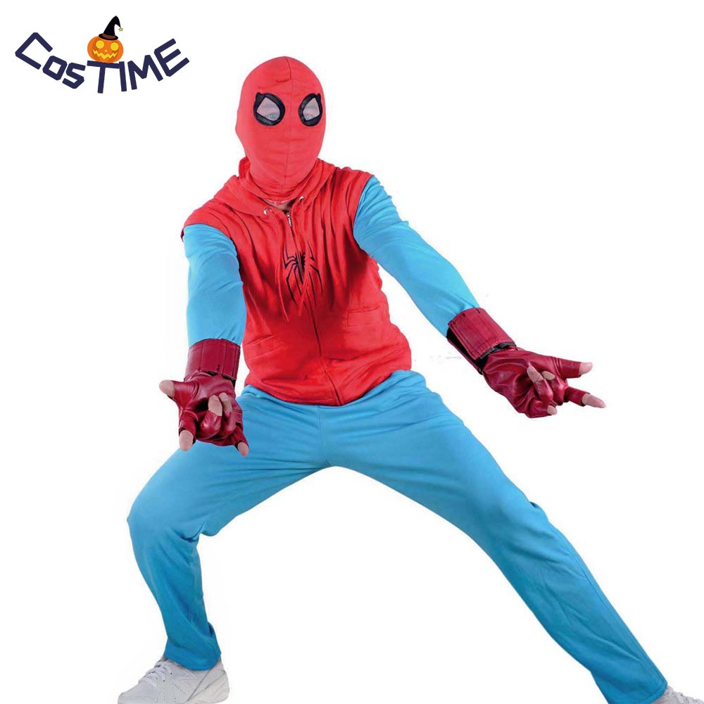 Spider Man Homecoming Costume Peter Parker Tom Holland Spiderman Cosplay Costume Homemade Suit Marvel Superhero Costume Outfit