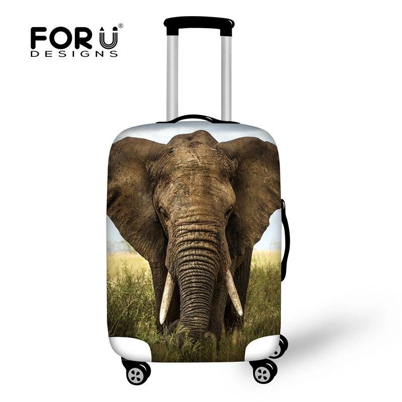 Forudesigns животного 3d печать Чемодан Защитная крышка относятся к 18 -30 случае хобот слона Чехол Водонепроницаемый Туристические товары