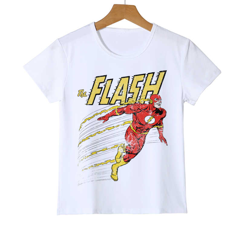 Flash Kid's T shirt Superhero Costume Cartoon print boy girl child summer fashion clothing T-shirt Children's Top Tees Y8-8