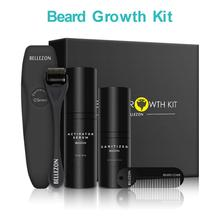 Upgraded Beard Growth Set Beard for Beard Rapid Growth and Thickening with Beard Sanitizer and Comb Best Gift for Men/Dad beard and hair growth oil wooden beard brush handmade beard comb beard growth moisturizing kit for men care