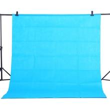 Cy熱い販売1.6 × 2メートル綿ブルー非汚染物質テキスタイルモスリン写真背景スタジオ写真撮影画面クロマキーの背景布
