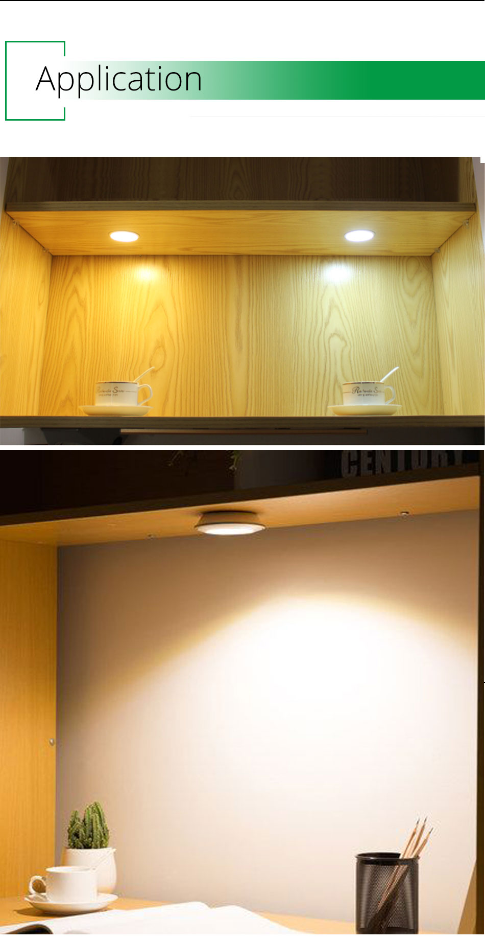 Under Cabinet Lights 12V LED Kitchen Cupboard Lighting Lamps Shelf Showcase Round Puck Light Bookshelf Counter
