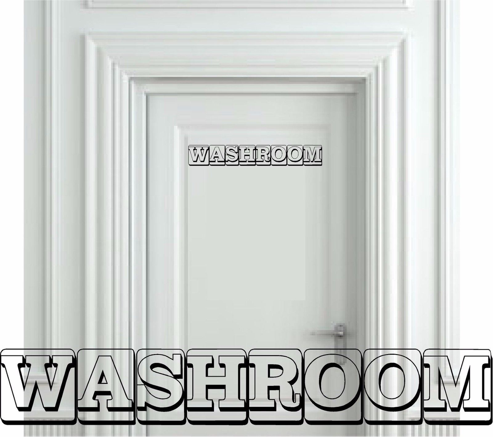 Washroom Bathroom Building Blocks Wall Decal Cute Funny Room Guests Bath vinyl sticker