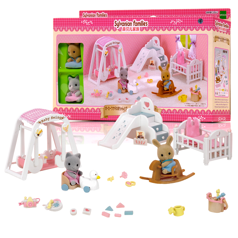 new arrival sylvanian family rabbit sister honey room bathroom dining room set living room sets doll sweet home play house toys in party favors from home - Sylvanian Families Living Room Set