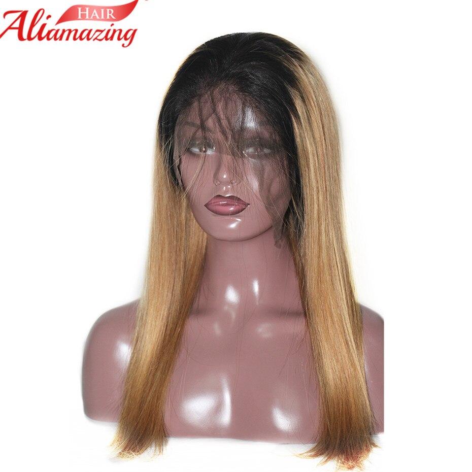 Ali Erstaunliche Haar Spitze Front Menschliches Haar Perücken 350% Dichte Gerade Ombre Brasilianische Reines Haar Mit Pre Gezupft Natürliche Haaransatz Hohe Belastbarkeit