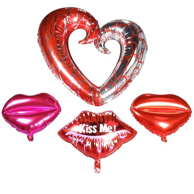 Herz Lippen Küssen Mich Ballon Ehe Zimmer Schmücken Liebe Hochzeit Ballon  Valentinstag 43 Zoll Aluminium Ballon