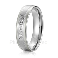 China Supplier Good Friend Gift Female Fashion Jewelry Titanium Wedding Rings