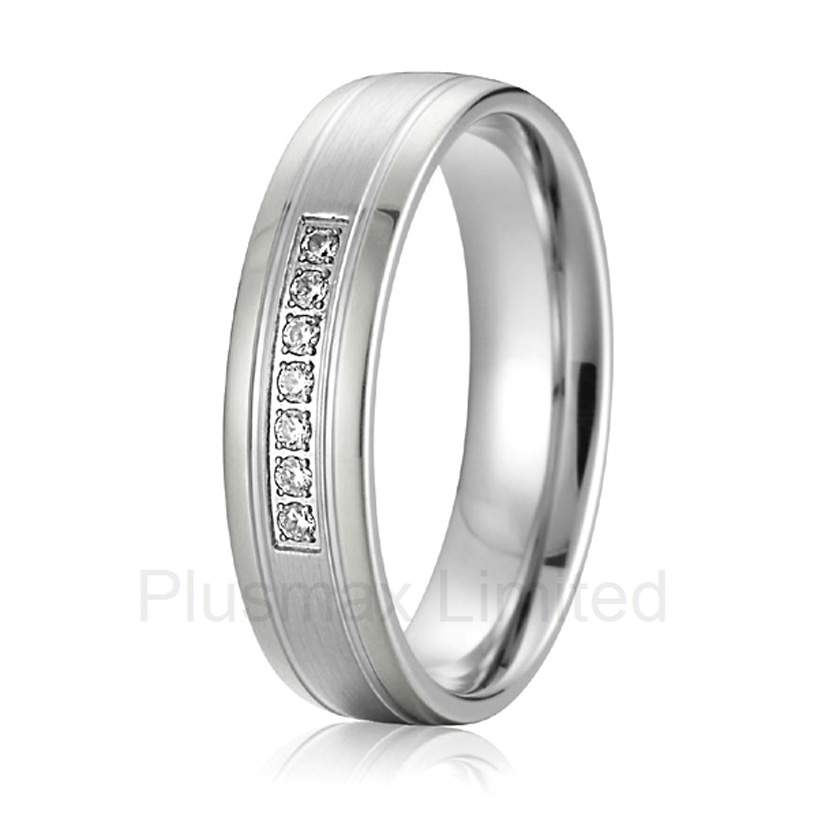 2016 China Supplier good friend gift female fashion jewelry pure titanium wedding rings anel feminino cheap pure titanium jewelry wholesale a lot of new design cheap pure titanium wedding band rings