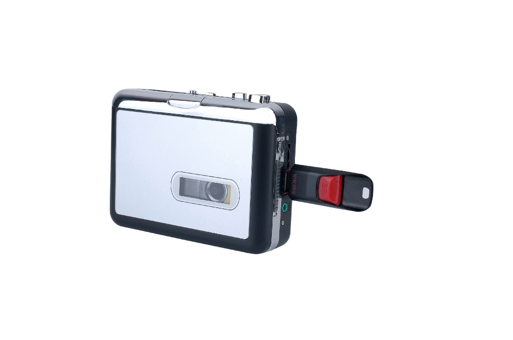 REDAMIGO USB MP3 cassette capture à MP3 USB Cassette Capture Bande sans PC, USB Cassette Converter MP3 Cassette à MP3 CR231