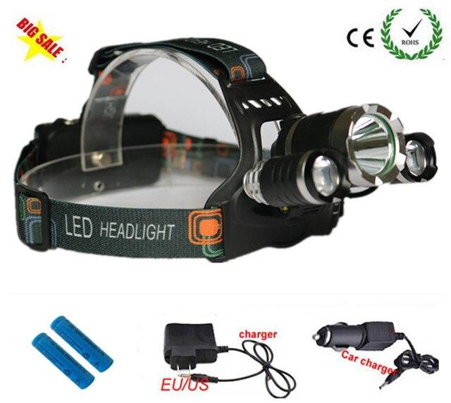 7000 Lumens Cree Xm L T6 Led Headlamp Headlight Caming Hunting Head
