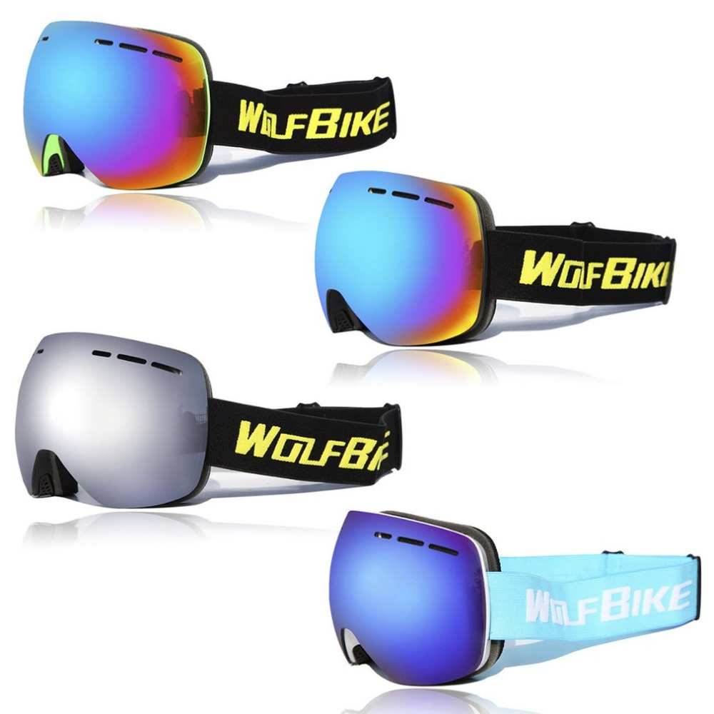 WOSAWE BYJ-018 UV400 Outdoor Safety Goggles Double-layer Windproof Skiing Goggles Anti-fog Spherical Surface Eyes Protector