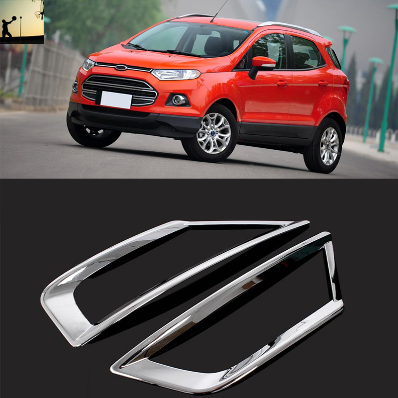 car styling abs chrome rear fog lamps cover trim for ford. Black Bedroom Furniture Sets. Home Design Ideas