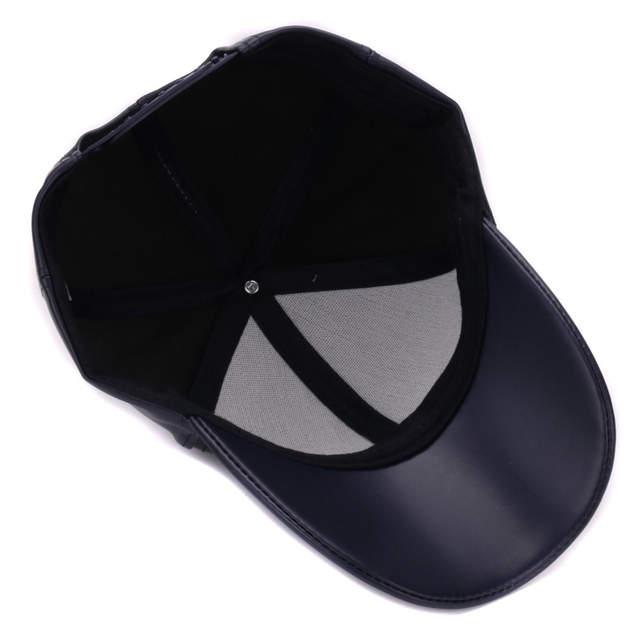 79202cc0361 HATLANDER Classic Plain PU baseball cap fashion blank no logo leather cap  and hat for men