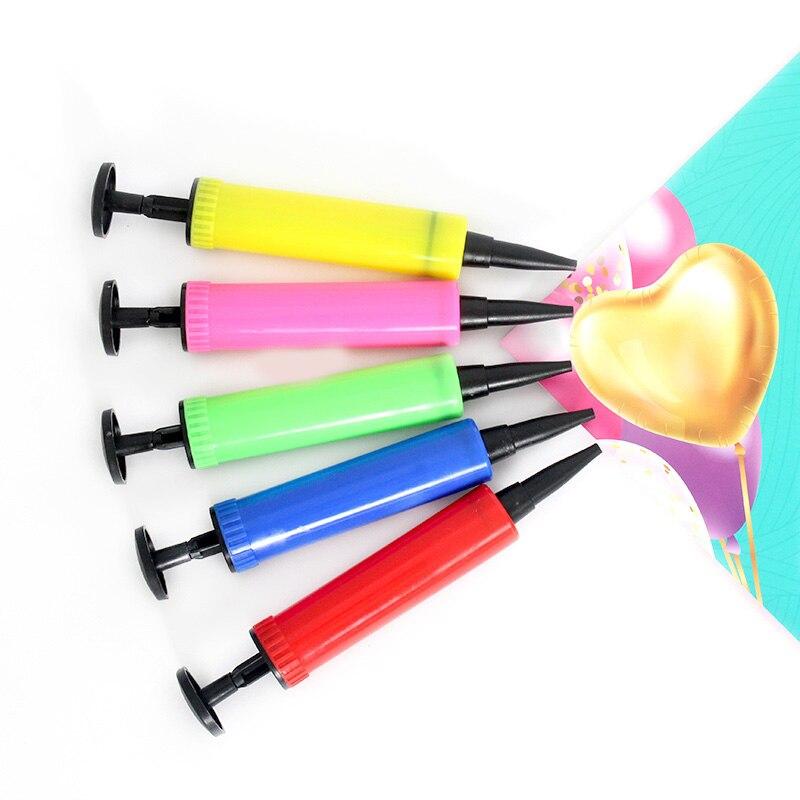 2 5x17cm Mini Balloon Pump balloon accessories hand push Air Pump Party Supplies portable Foil balloon pump Latex Ballons Pumps in Ballons Accessories from Home Garden
