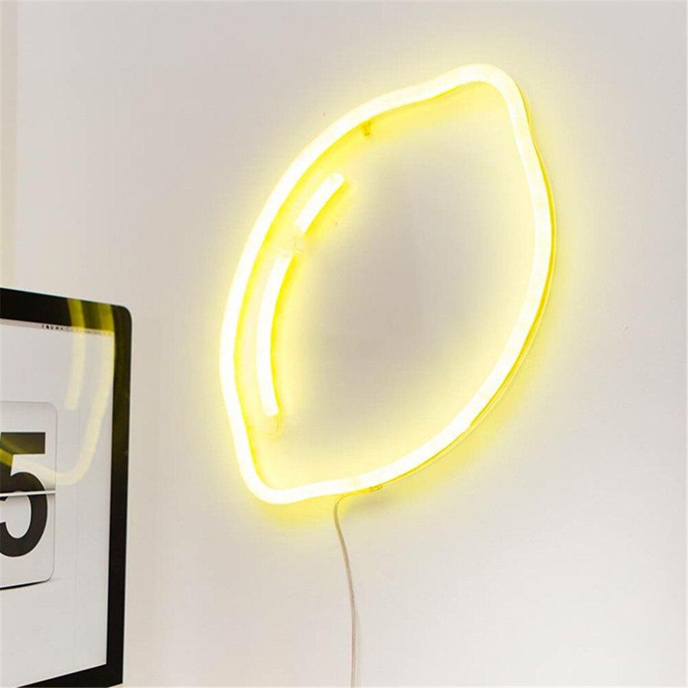 Neue LED Zitrone Nacht Neonlicht Skandinavien Chic Banana Wolke ...