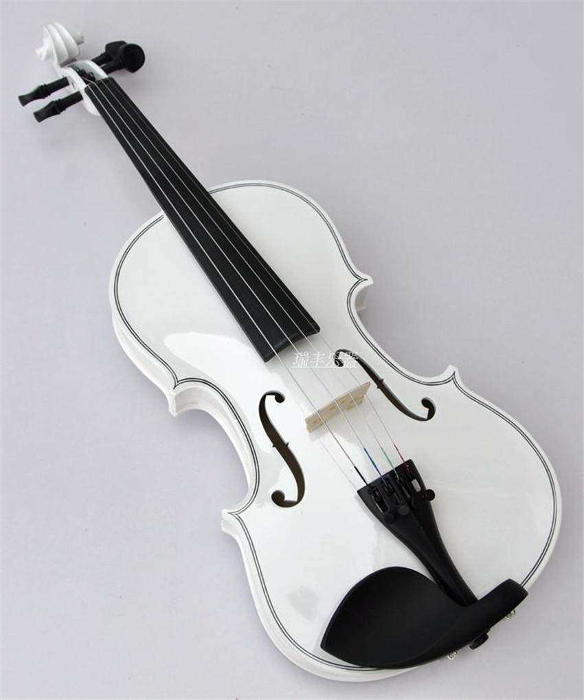 High quality WHITE color violin 1/4 violin handcraft violino Musical Instruments fir 1 8 1 4 1 2 3 4 4 4 violin handcraft violino musical instruments with violin bow and case