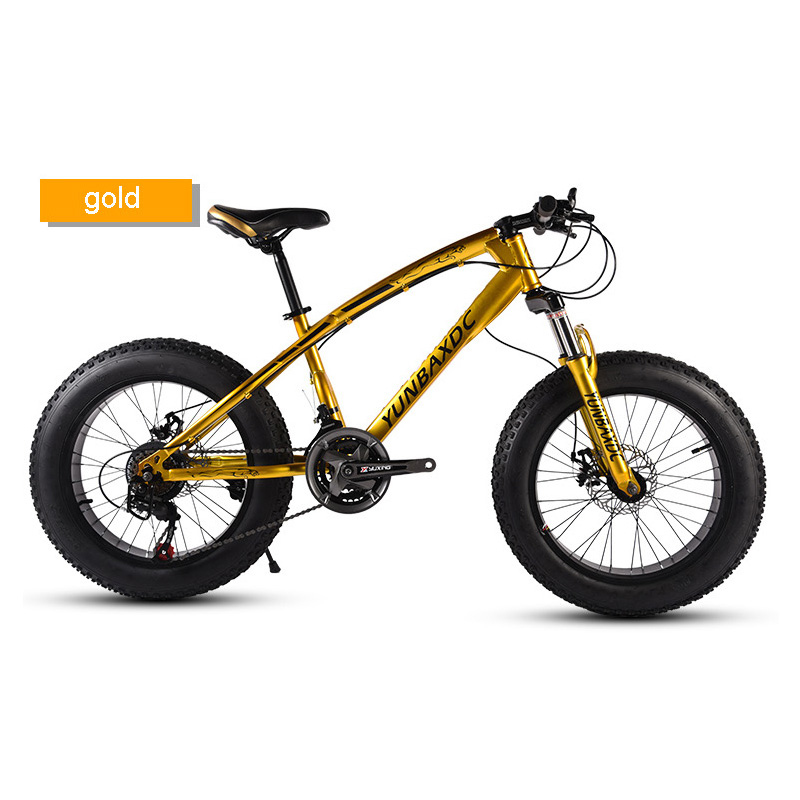 Snowy Mountain Bike 20 Inches 24 Speed 4.0 Inches Tire High Carbon Steel Frame For Snow Riding