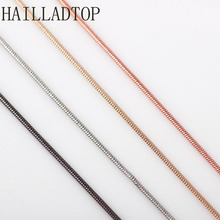 5PCS/LOT Silver Rose Gold Chain Fashion Alloy Snake Necklace Women Fit Floating Locket Jewelry Wholesale