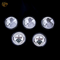 Wholesale 1956 MLB FELLXL MANTILLA Baseball Challenge Coins The 2010 Puerto Rice Back Design Coin with Plastic Case for Souvenir