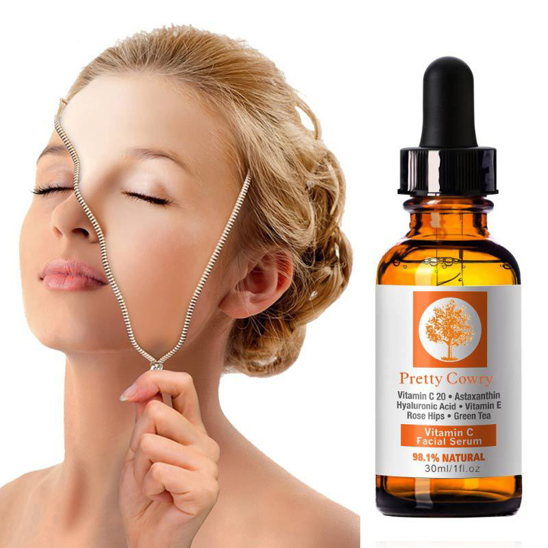 30ml Vitamin C Essence Hyaluronic Acid Whitening Natural Face Serum Firm Soothing Repair Essence Face Skin Care TSLM1 1